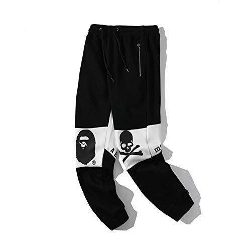 ZCVB Pantalones Deportivos Casuales de tiburón Unisex Pantalones Deportivos de Moda, Aumenta el Valor Fresco en un 100%-Negro_XXL