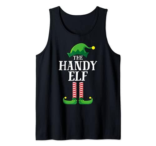 Pijama de fiesta de Navidad de grupo familiar a juego de elfos móviles Camiseta sin Mangas