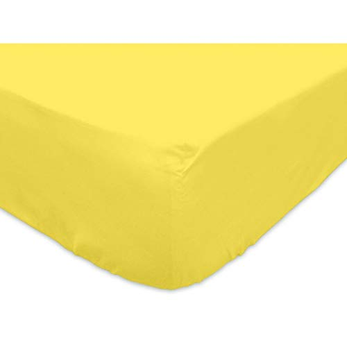 Soleil d'ocre Lenzuolo con Angoli 90 x 200 cm in Cotone SO Giallo