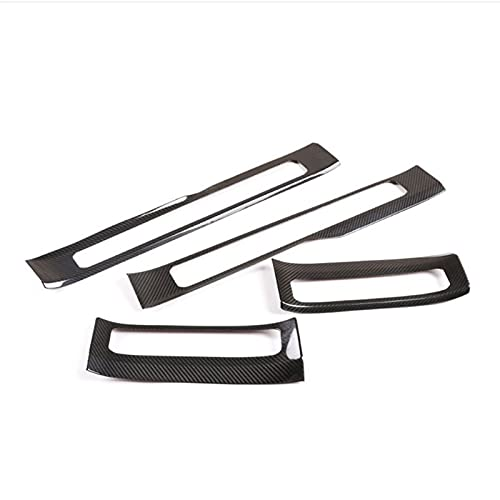HYCQ Frame Cover Trim For M-ercedes For B-enz For G Class W463 2019-2020 W464 Real Carbon Fiber Inner Door Plate Threshold Strip Protect Sticker Car Inner Cover Decorative