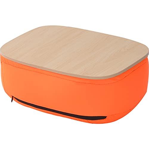 CCXX Escritorio de cama para ordenador portátil con cojín grueso, bandeja multifunción para ordenador portátil, mesa de soporte para cama y sofá