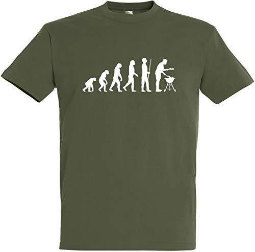 Herren T-Shirt Grill Evolution (3XL, Olive)