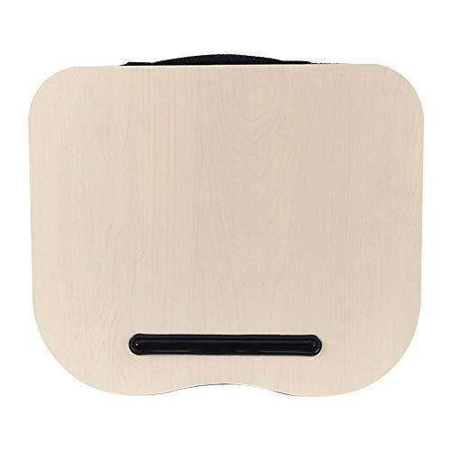 CellLucky - Cuscino per computer da ufficio, esterno, vassoio da viaggio per computer portatile, scrivania, ginocchio, portatile, multifunzione, colore: beige