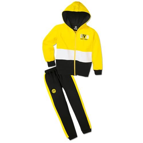 Borussia Dortmund BVB Jogging-Anzug Block f. Kleinkinder Gr. 86/92 Gelb