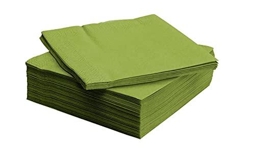 IKEA(イケア) FANTASTISK 40x40 cm 60160142 ペーパーナプキン、ミディアムグリーン