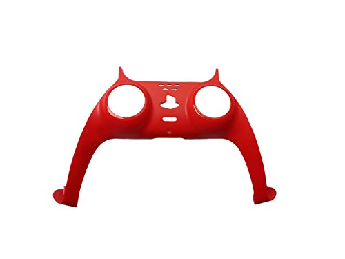 PS5 Controller Decorative Multi Coloured Front Plate Cover Faceplates for DualSense Playstation Controller (Red)