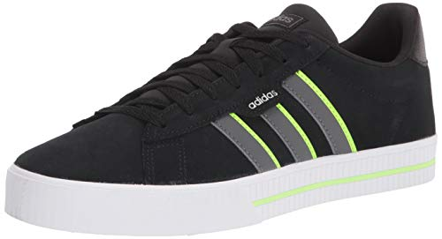 adidas Daily 3.0 Skate Shoe, Black/Grey/Signal Green, 9