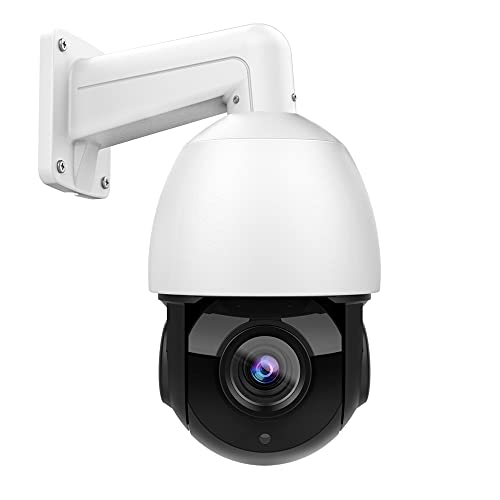 Hikvision Compatible 8MP PoE PTZ IP Camera Outdoor Pan Tilt 18x Optical Zoom Security Speed Dome Camera with 165ft Night Vision Motion Detect,IP66 Waterproof,H.265+,Remote Viewing Support