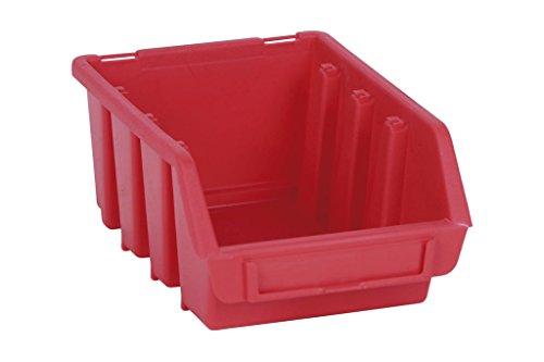 Cofan 09400257 Gaveta apilable para guardar elementos, Rojo, 333 x 500 x 187 mm