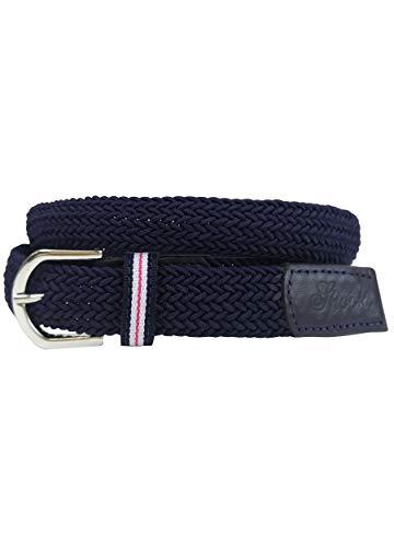 SPOOKS elastischer Gürtel für Damen Herren mit Schnallenverschluss, Reitgürtel für Reithosen, Textil, Stoff - Belt Stretch - navy L/XL