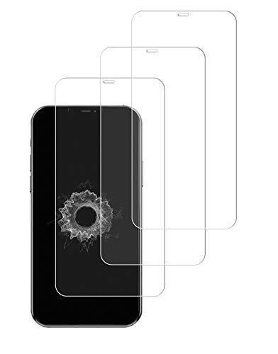 WEOFUN [3 Stück Panzerglas Schutzfolie, geeignet für iPhone 12 Mini 5.4 [9H Festigkeit, Kratzfest, Wasserdichtes Öl, Blasenfrei]