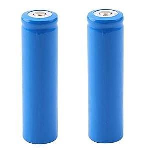 Bateria 18650 Pilas Recargables Bateria 3.7V Litio Li-Ion 5000mAh Gran Capacidad 1000Ciclos 18650 Recargables Pila para Equipos Electrónicos con Linterna, 66 * 18mm (2 Piezas)