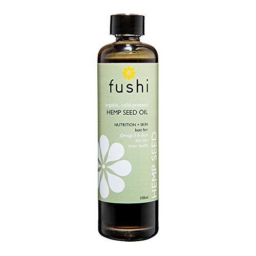 Fushi Organic Hemp Seed Oil 100ml | Virgin, Cold-Pressed & Fresh-Pressed | Rich in Omega 3 & GLA, Best for Dry Skin & Inner Health | English Grown Seeds, for Vegetarians & Vegans | Made in the UK