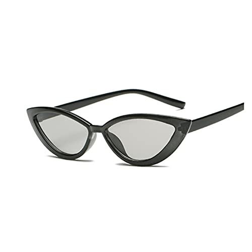 YQwind Nuevo Vintage Black Cat Eye Gafas de Sol Mujer Moda Moda Diseñador Espejo Pequeño Marco Cateye Gafas de Sol para Sombras Femeninas UV400 (Lenses Color : Light Gray)