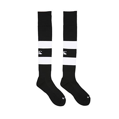 Canterbury Herren Bekleidung Gummi Spielsocken Rugby Socken Schwarz XS (Junior)