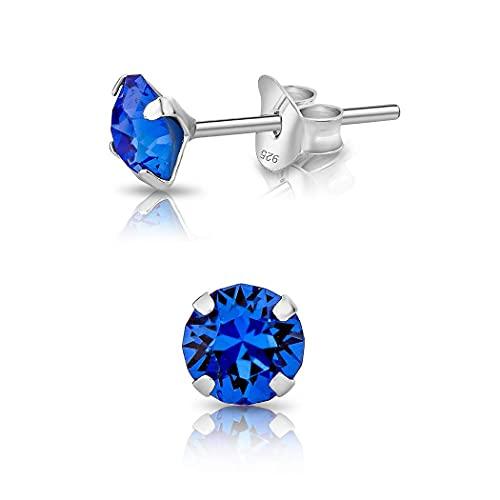 DTPsilver® Semental Pendientes/Aretes de Plata de Ley 925 con Cristales Swarovski® Elements...