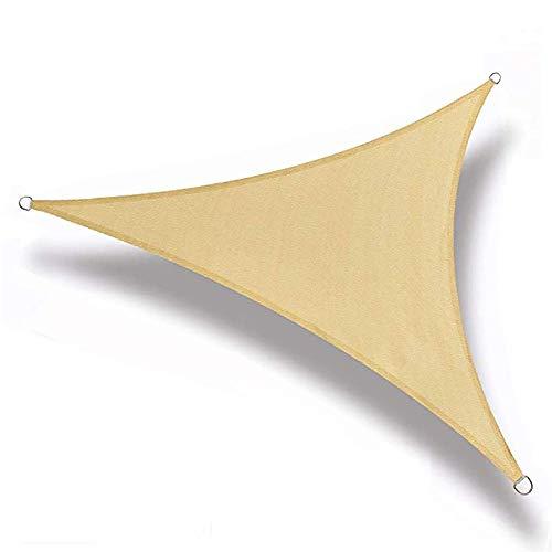 xiegons0 Sonnenschirm Segel Anti-uv Dreieck Schirm Baldachin Wasserdicht Tragbar Schirm Markise Für Außen Garten Terrasse Hinterhof - Wie Bild Show, 2x2x2m