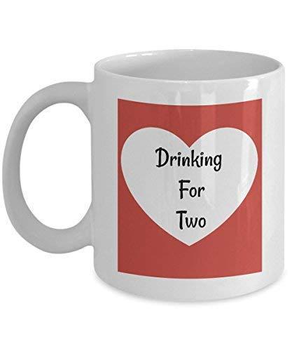 N\A Divertida Taza de café para Embarazadas Bebiendo para Dos para la Familia, la mamá primeriza y los Amigos