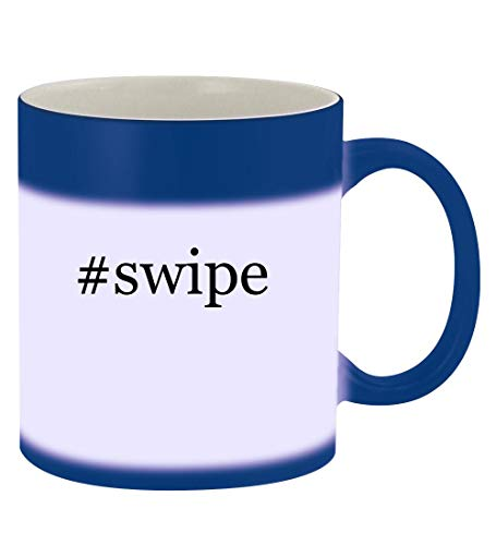 #swipe - 11oz Hashtag Magic Color Changing Mug, Blue
