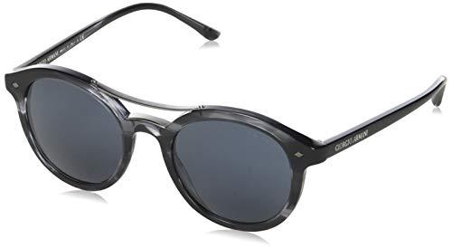 Armani AR8007-5595R5-50 Rund Sonnenbrille 50, Schwarz