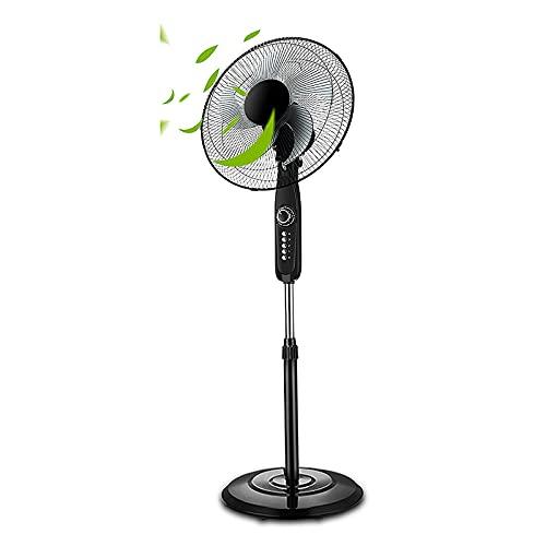Ventilador de Pedestal, Ventilador de Pie de Alta Eficiencia Energética con Temporizador de 0 a 60 Minutos, Ahorro de Energía, Bajo Contenido de Carbono y Temporizador, Suministro de Aire de Gran An