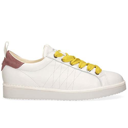 Panchic P01 Original - Zapatillas de mujer blancas y rosas - P01W16001L1 A00567-WBROWN - Talla Blanco Size: 40 EU