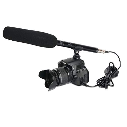 Depusheng A2 Professional Shotgun Interview Microphone Directional Condenser MIC for DSLR DV Camcorders Video Camera Mic