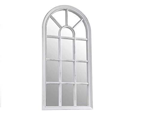 GICOS IMPORT EXPORT SRL Specchio in plastica Ovale Arco 35 * 3 * 70 cm da Parete Terra Bianco Shabby Chic CJH-774836