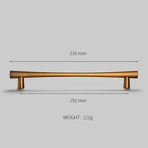 JWGD Aleación de Zinc Amarillo Gabinete se encarga de Bronce Armario de la Cocina manijas de Las Puertas del cajón Perillas Moda Muebles de Mango Largo Hardware (Color : Z 2262 192)