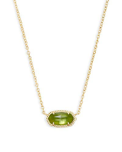 Kendra Scott Elisa Short Pendant Necklace for Women, Dainty Fashion Jewelry, 14K Gold-Plated Brass,...
