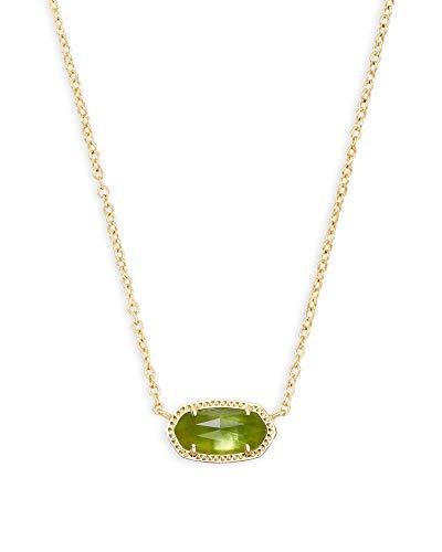 Kendra Scott Elisa Short Pendant Necklace for Women, Dainty Fashion Jewelry, 14K Gold-Plated Brass,...