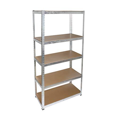 Cogex 62343 metalen rek, 5 planken, opsteekbaar
