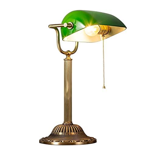 Lámpara de mesa de servicio Todas las lámparas de mesa retro de cobre lámpara de noche del dormitorio, utilizado para la sala de estar de la sala de estar de la oficina de la oficina lámparas de la me