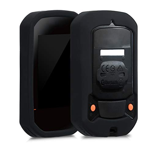 kwmobile Hülle kompatibel mit Bryton Rider 420/320 - Silikon GPS Fahrrad Hülle Schutzhülle - in Schwarz