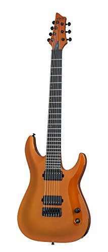 Schecter 248 7-String Solid-Body Electric Guitar, Lambo Orange