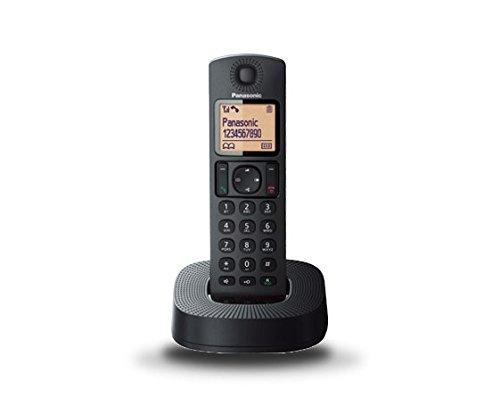 Panasonic KX-TGC310 - Teléfono fijo inalámbrico (LCD, identificador de llamadas, agenda de 50 números, bloqueo de llamada, modo ECO, reducción de ruido), color negro