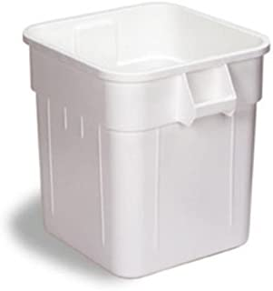 Continental 2800WH 32-Gallon Huskee LLDPE Waste Receptacle, Square, White