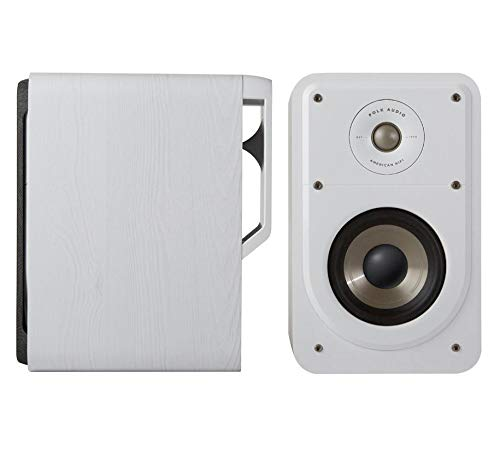 Polk Audio Signature S15E Regallautsprecher, Stereo-Lautsprecher, HiFi Lautsprecher für Musik und Heimkino Sound, passiver Full Range Lautsprecher, 20 - 100 Watt, 8 Ohm, High Res, 48Hz - 40kHz (Paar)