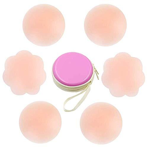 Nippel-Abdeckung Silikon Brustwarzenabdeckung Brust Aufkleber selbstklebend und wiederverwendbar Nippel Cover Pads