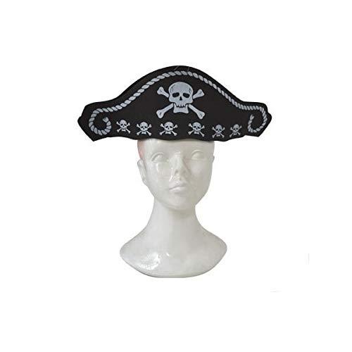 Fiesta Palace - chapeau de pirate en mousse avec tête de mort
