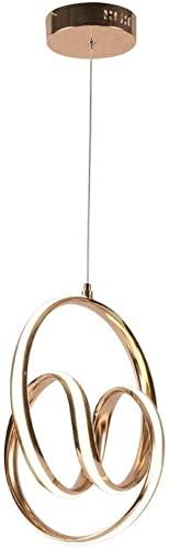 LIXAMP Araña de Aluminio Creativo Lámpara Colgante de la aleación de Silicona Suave Que amortigua la lámpara del Oro Moderna DIRIGIÓ Colgante de luminarias Sala Comedor Suspensión de iluminación