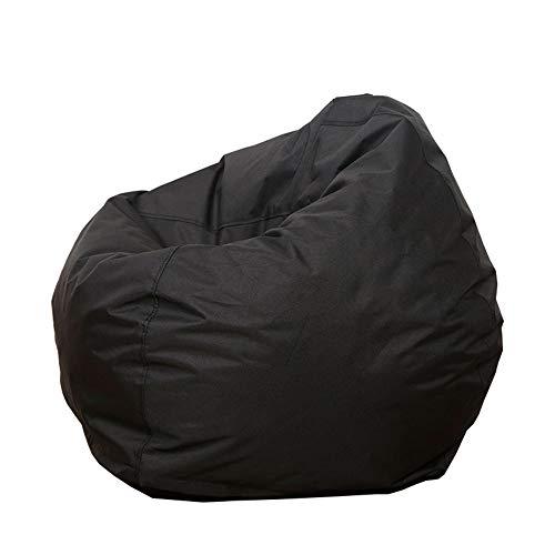 Sitzsackbezug Baumwolle Leinen Sitzsack Stühle/Sofa/Liegestuhl Bezug ohne Füllstoff für Kinder & Erwachsene Bequeme Lounge Gaming Stuhl Sitzsack für Spielzimmer Schlafzimmer Gr. One Size, Schwarz