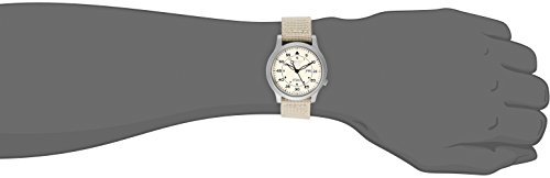Fashion Shopping Seiko Men's SNK803 Seiko 5 Automatic Watch with Beige Canvas