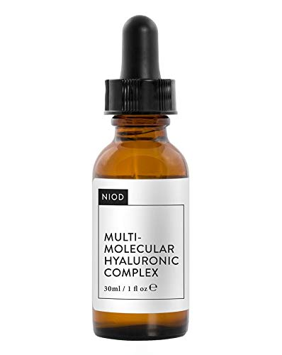 NIOD Multi-Molecular Hyaluronic Complex MMHC2, combines twelve forms of hyaluronic compounds to plump and hydrate skin. (30ml)