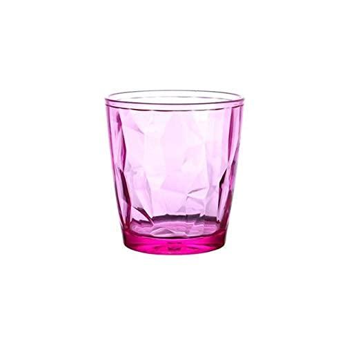 TFJJSQA Especial/Simple Premium acrílico Colorido Diamante Beber Gafas Barra Bebida Jugo Taza Hotel Restaurante Beber Taza Copas de Vino (Color : Pink)