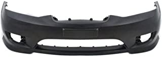 Front Bumper Cover Compatible with 2005-2006 Hyundai Tiburon Primed with Fog Light Holes