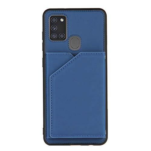 Schutzhülle für Samsung Galaxy A21S (Kreditkartenfächer), Blau