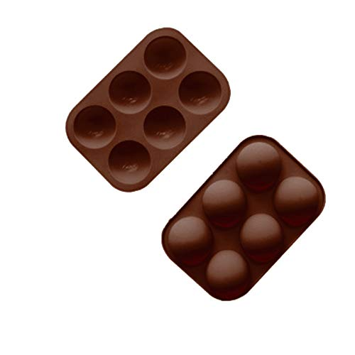 1/4PCS Half Ball Sphere Silicone Cake Mold, 6 Holes Cake Mold Non-Stick Silicone 3D Cake Making Moulds DIY Dessert Mousse Molds Chocolate Mould