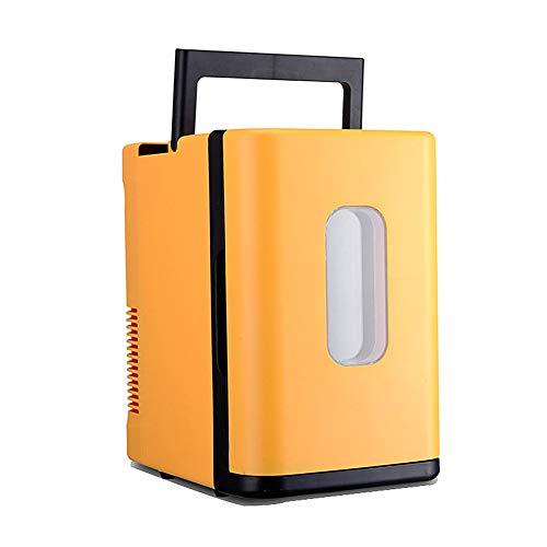 huihuijia AutomóVil Refrigerador 10 litros De Capacidad Congelador De Viaje Nevera Portatil para Enfriar Y Calentar Yellow