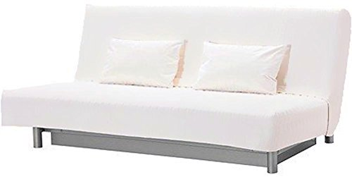 HomeTown Market The Cotton Beddinge Lovas Sofa Bed with Pillows Cover Replacement is Custom Made for IKEA Beddinge Futon. A Sleeper Slipcover Replacement (White)